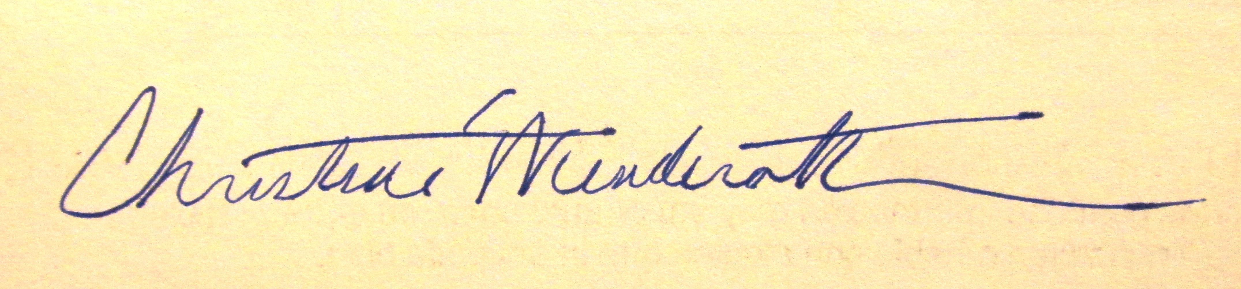 Christine Wenderoth Signature