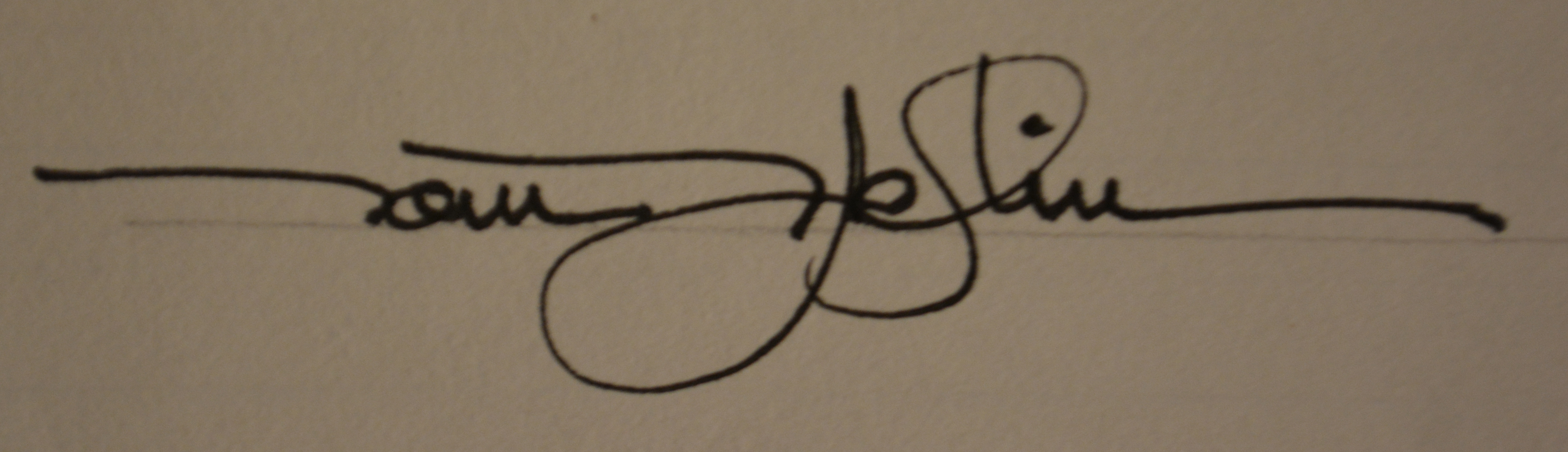 Thomas Patrick Heflin Signature