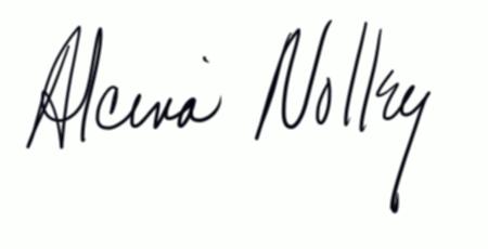 Alcina Nolley Signature