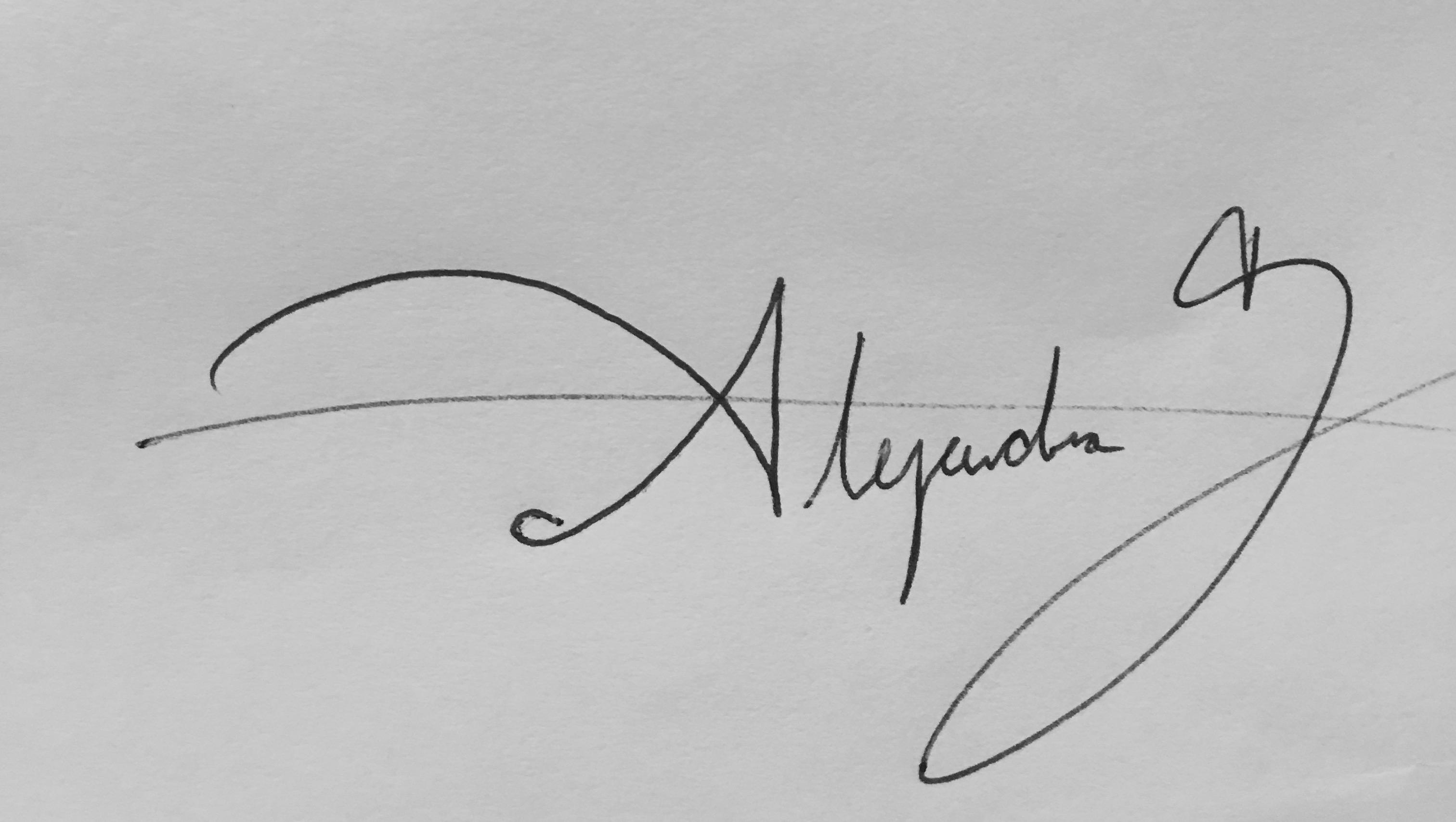 alejandra garcia Signature