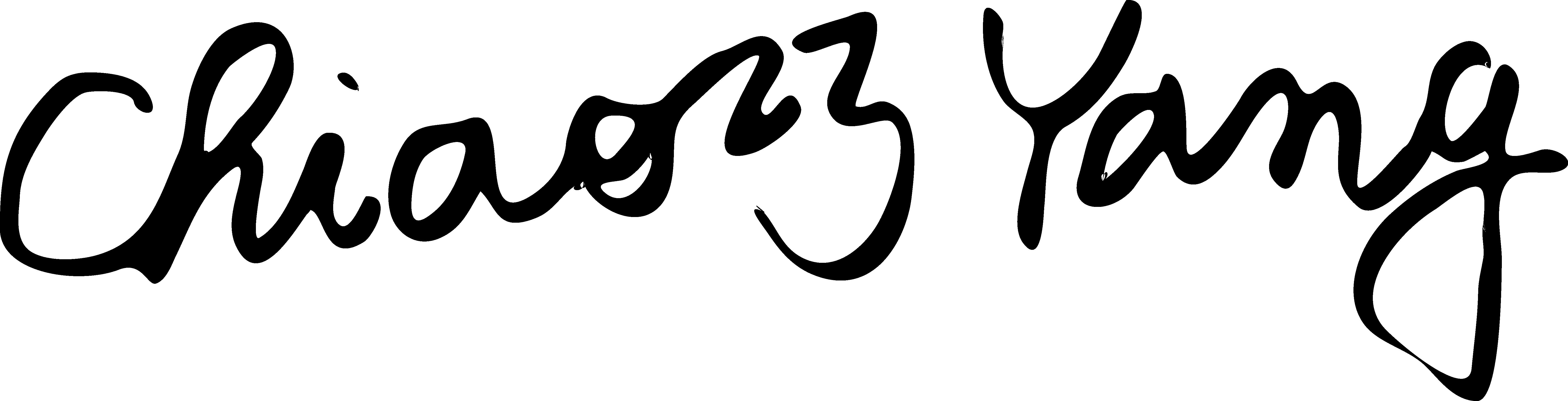 Chiao-Chiao Yang Signature