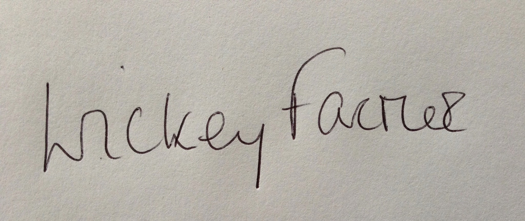 Wickey Farmer Signature