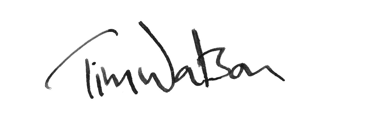 Tim Watson Signature