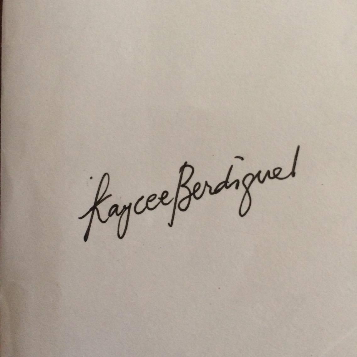 Kaycee Berdiguel Signature