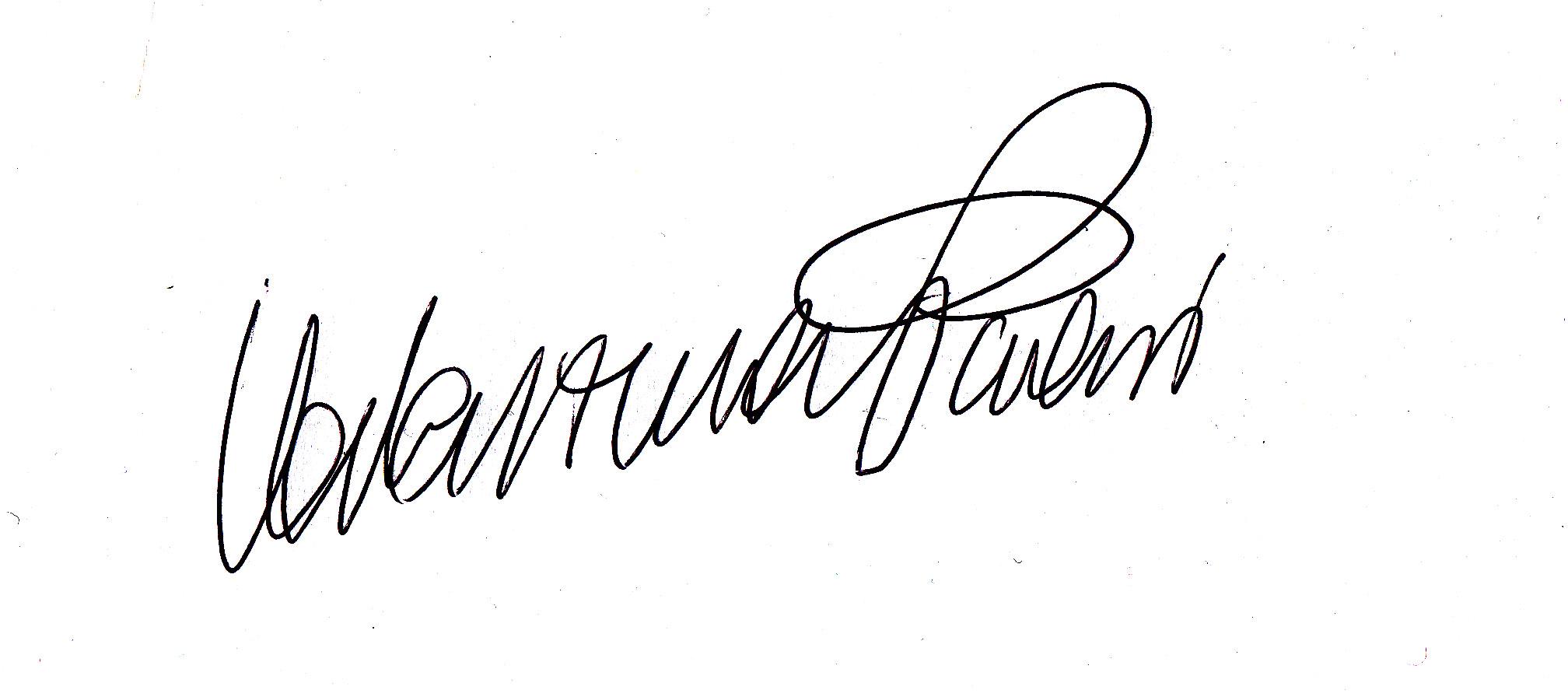 Valentina Paroni Signature