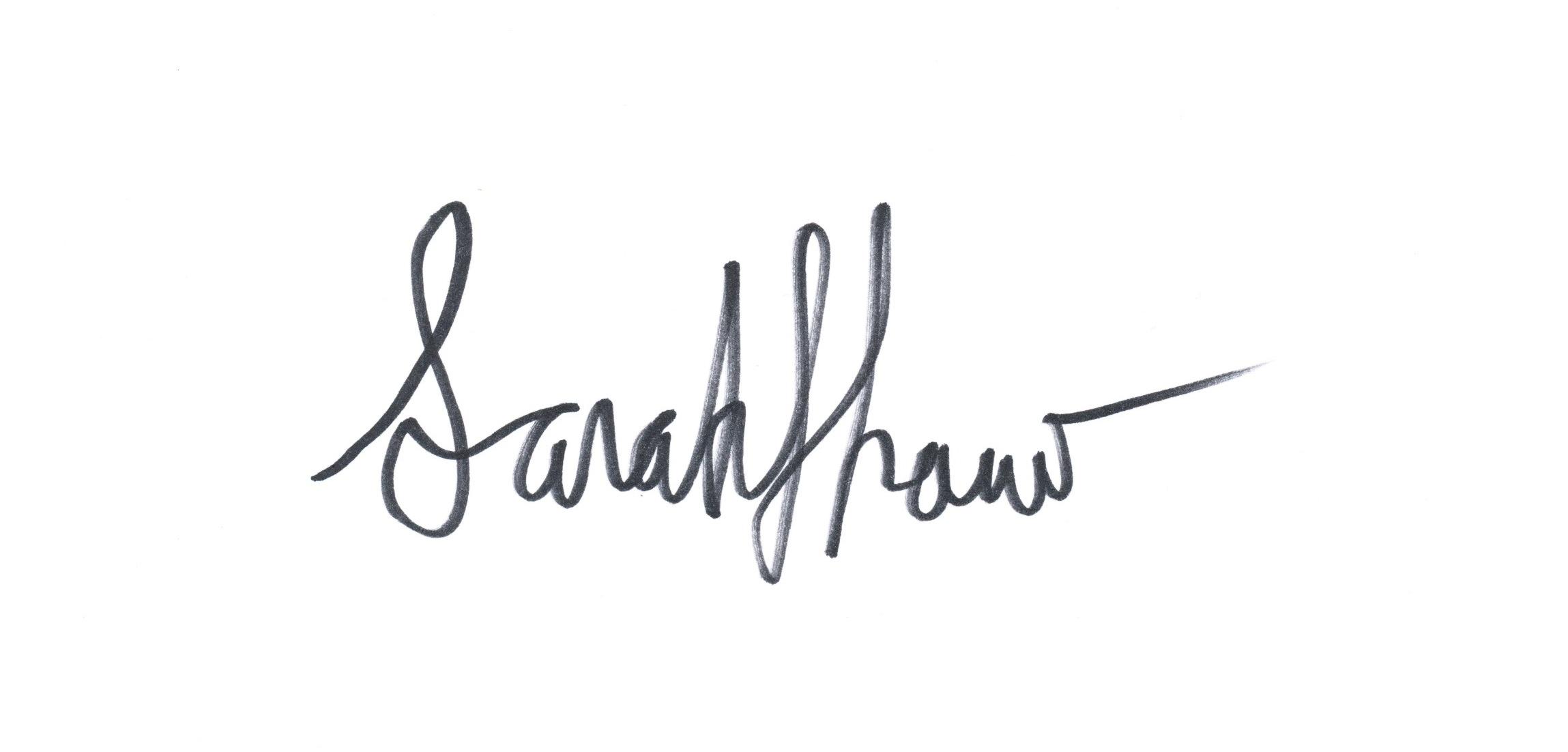 Sarah Anne Shaw Signature