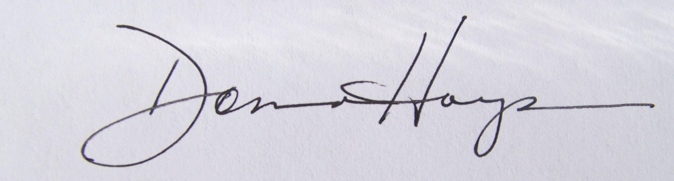 Donna Hays Signature
