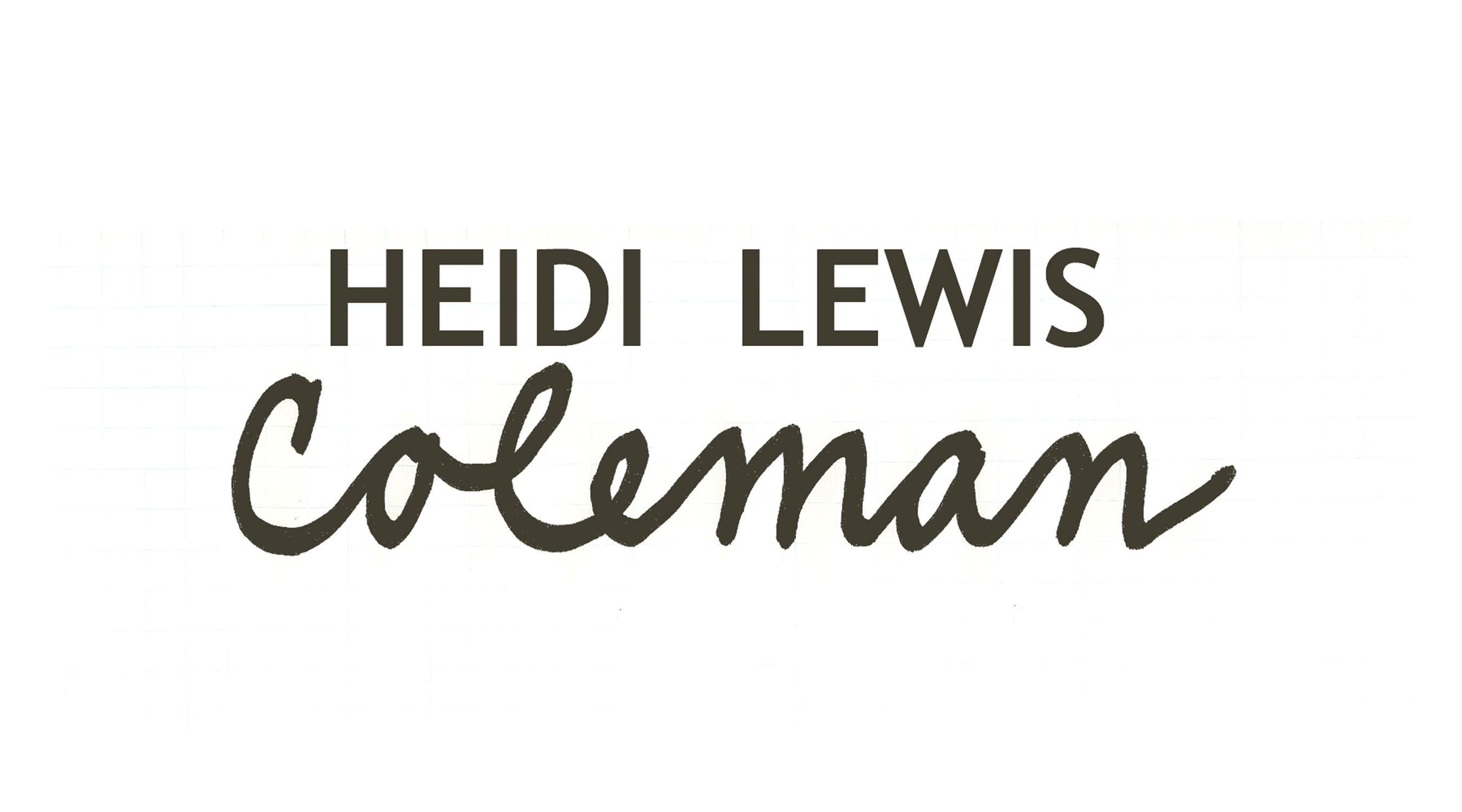 Heidi Lewis Coleman Signature