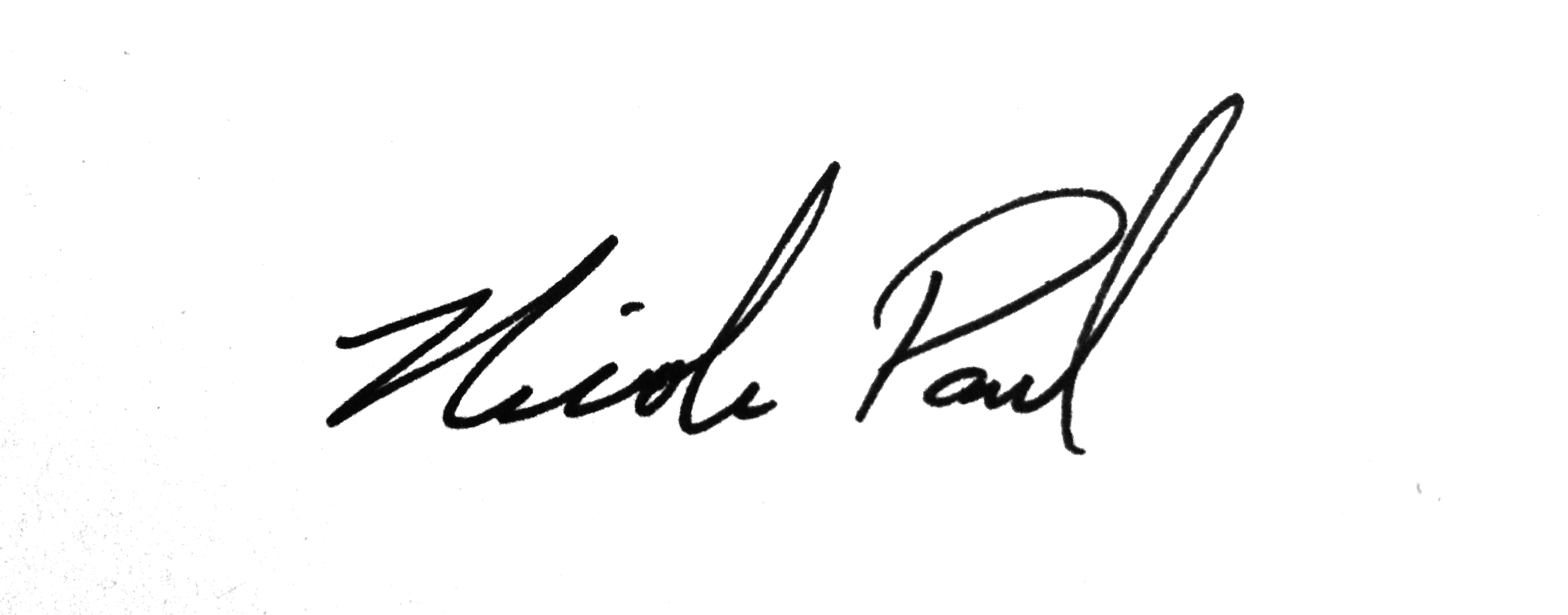 Nicole Paul. Signature