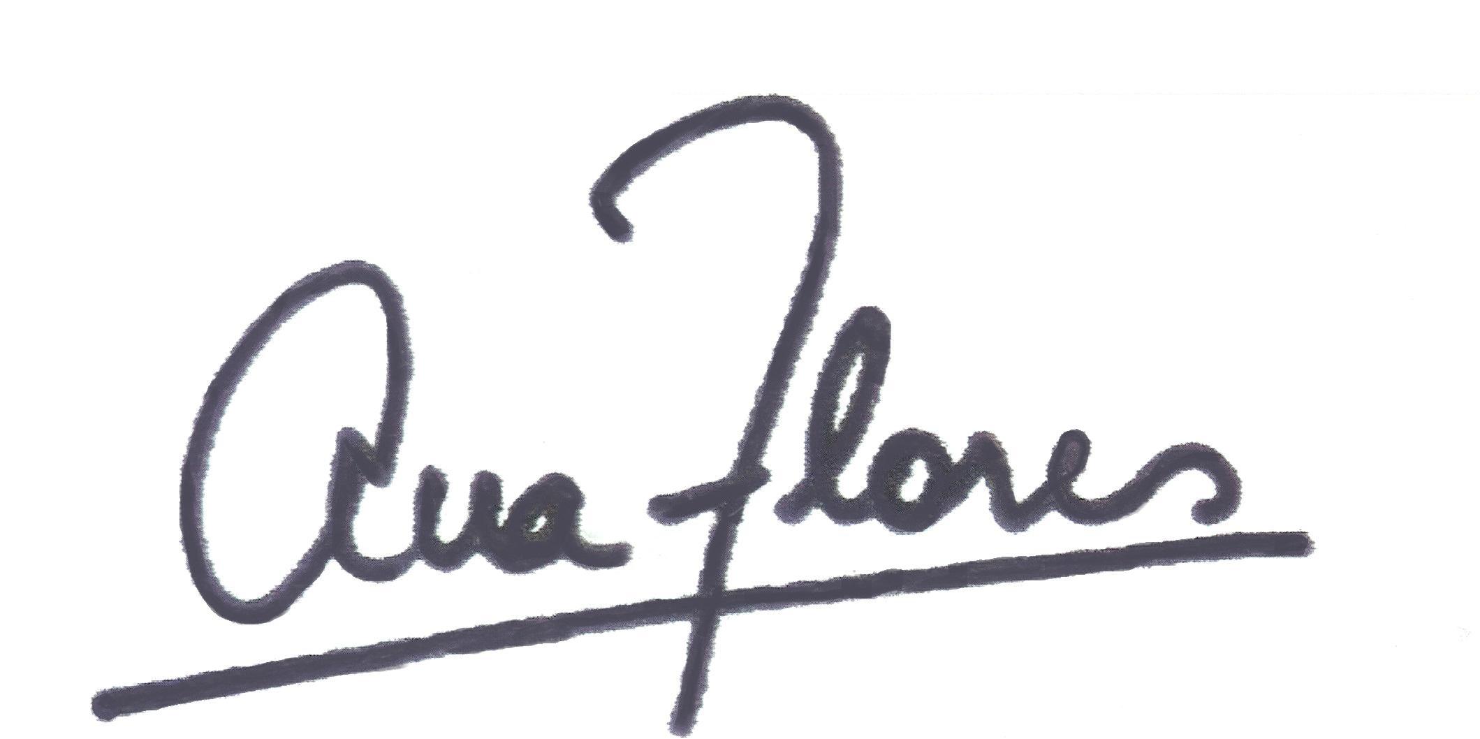 ANA FLORES Signature