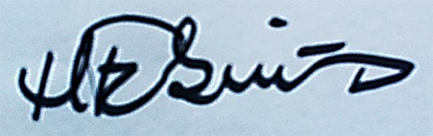 Hanne Fabricius Signature