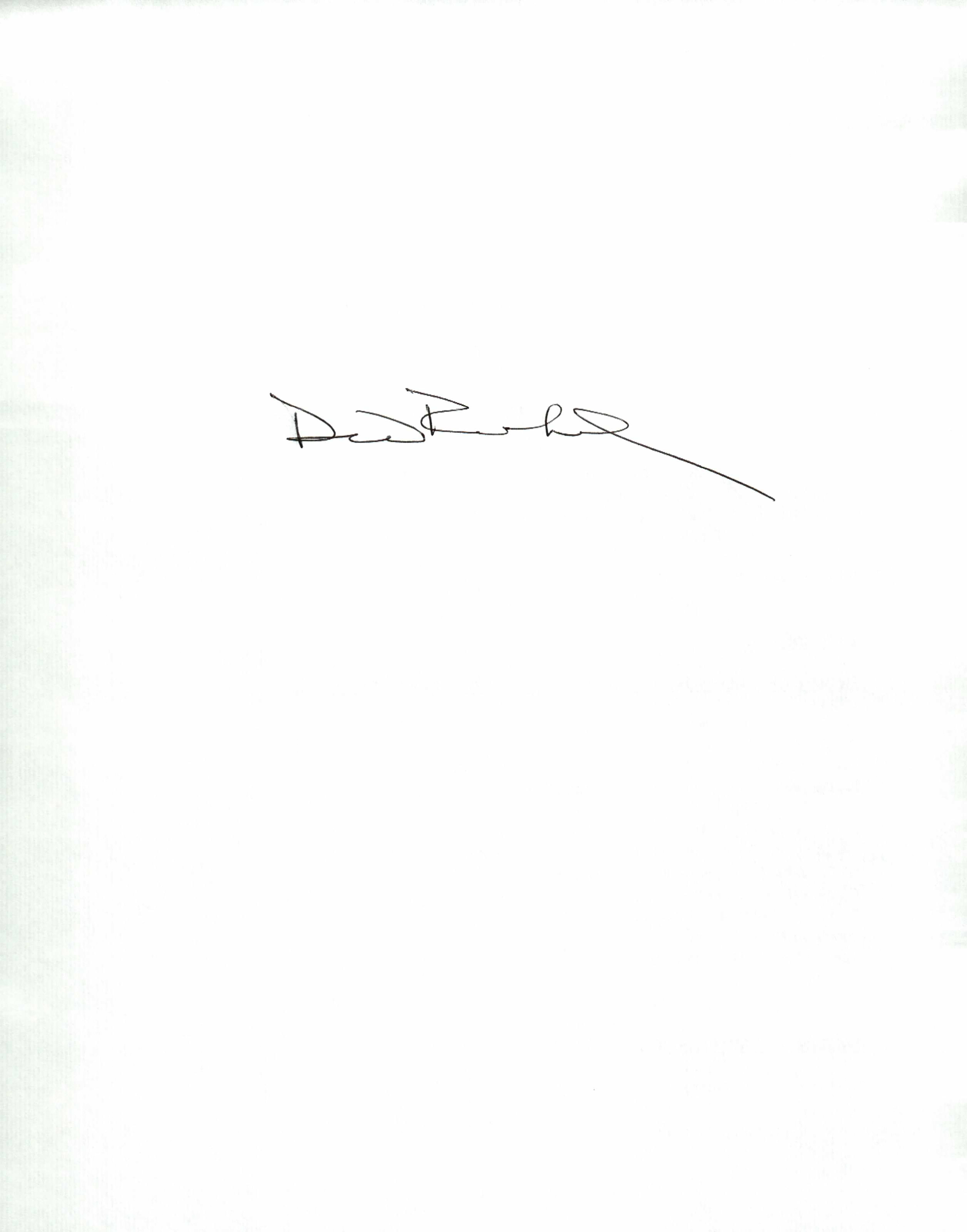 David Reinhard Signature