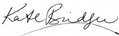 Kate Bridger Signature