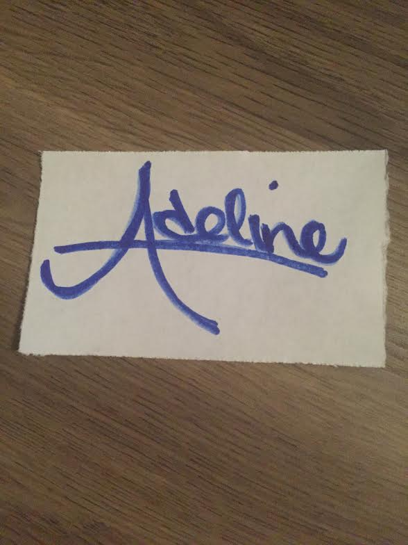 Adeline Andrews Adams Signature
