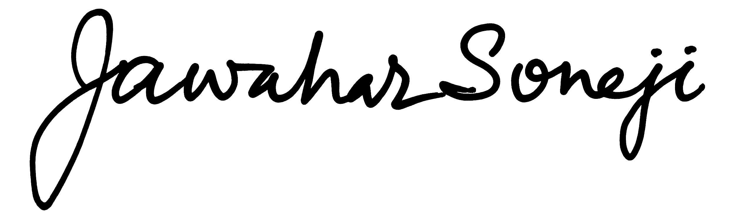 Jawahar Soneji Signature