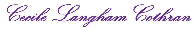 Cecile Langham Cothran Signature