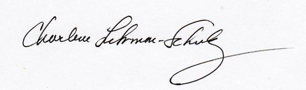 Charlene Fuhrman-Schulz Signature