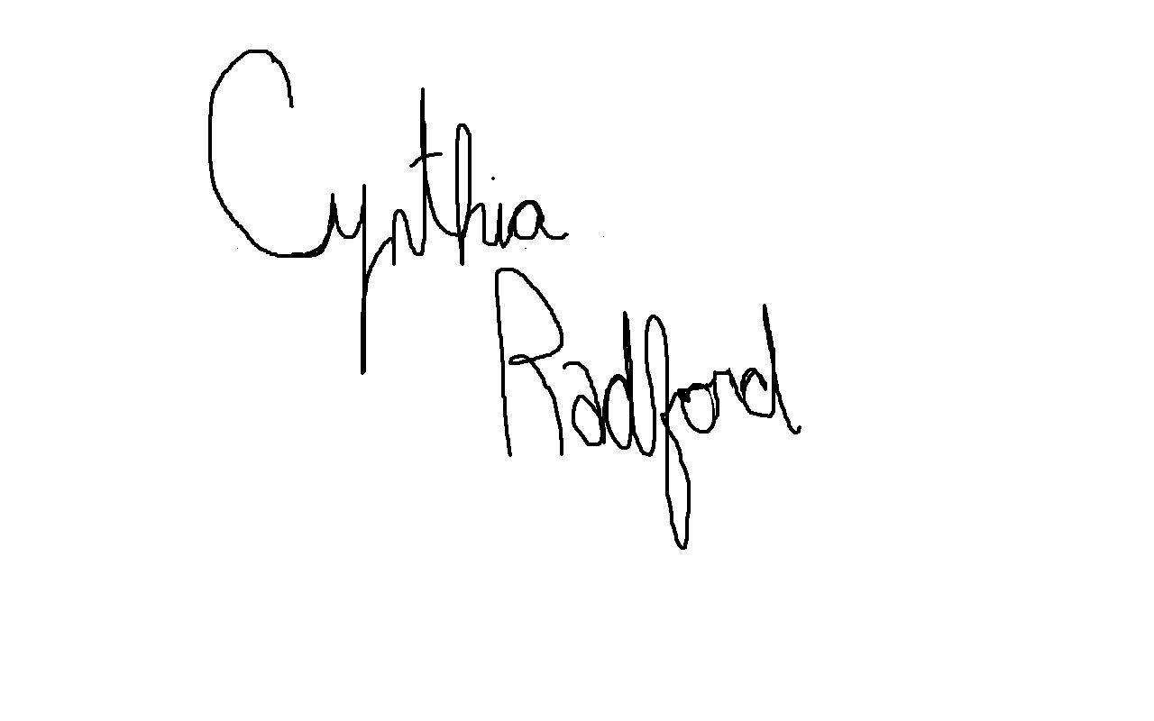 Cynthia Radford Signature