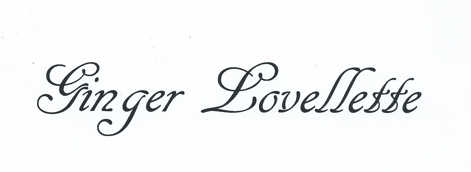 Ginger Lovellette Signature