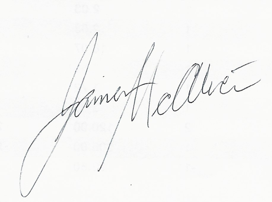 James McAlice Signature