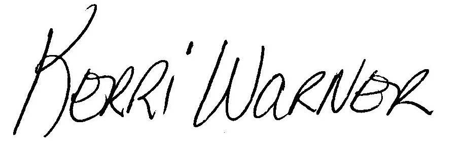 Kerri Warner Signature