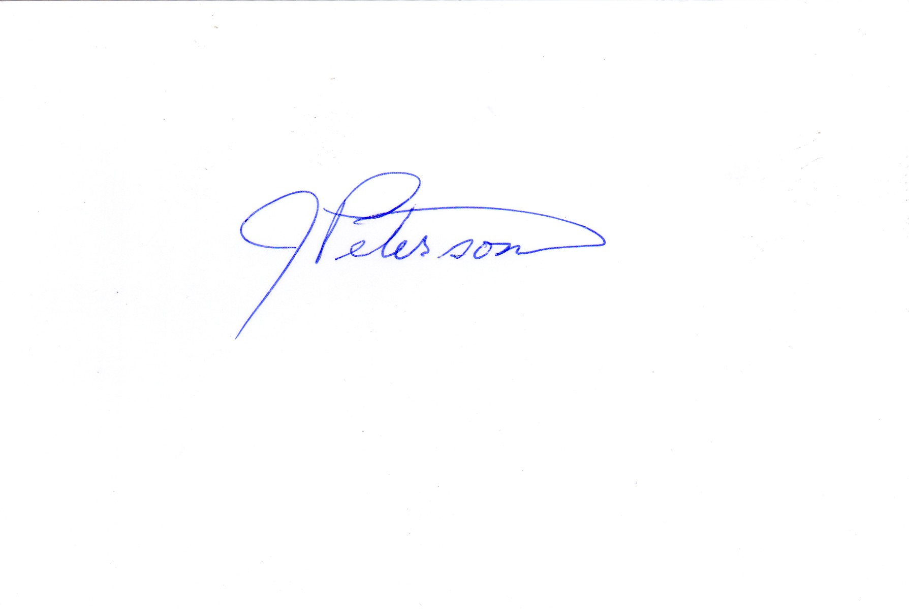Jean Peterson Signature