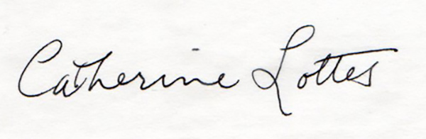 Catherine Lottes Signature