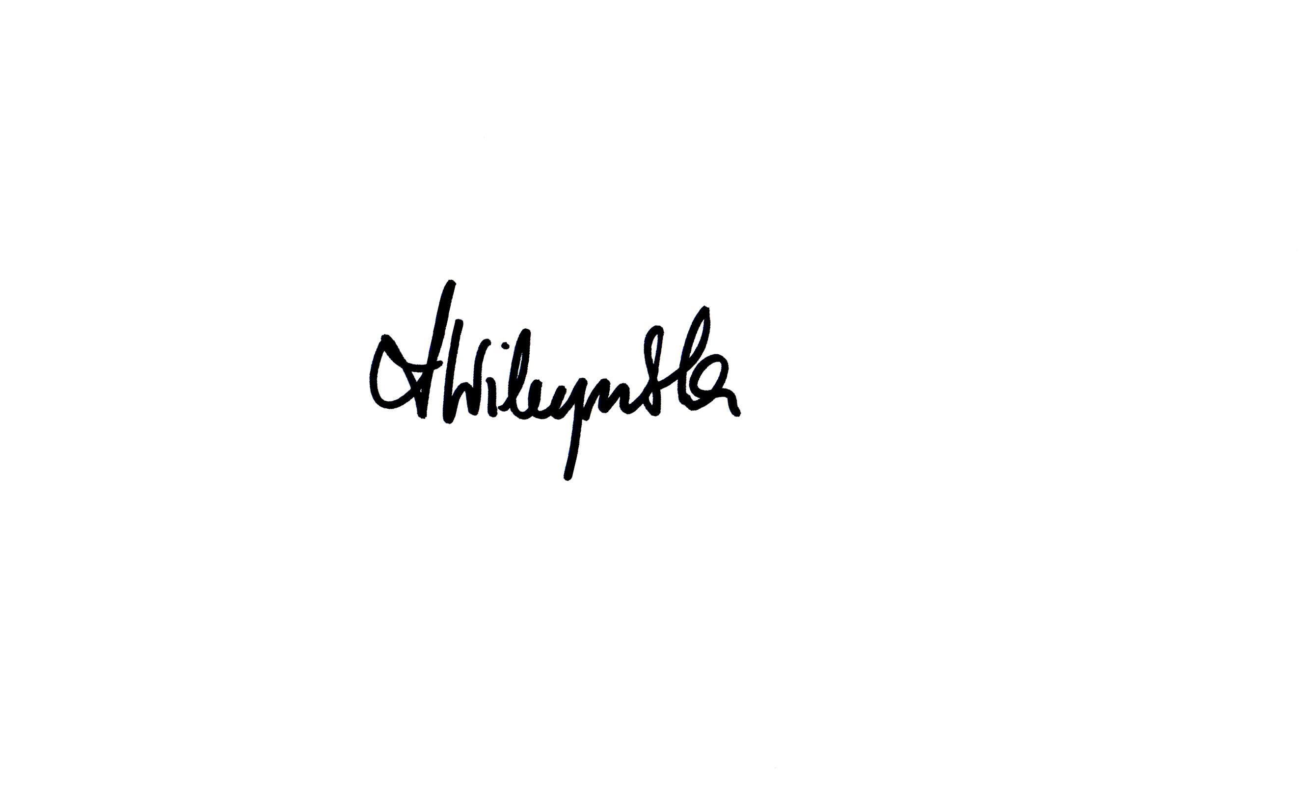 ANNA WILCZYNSKA Signature