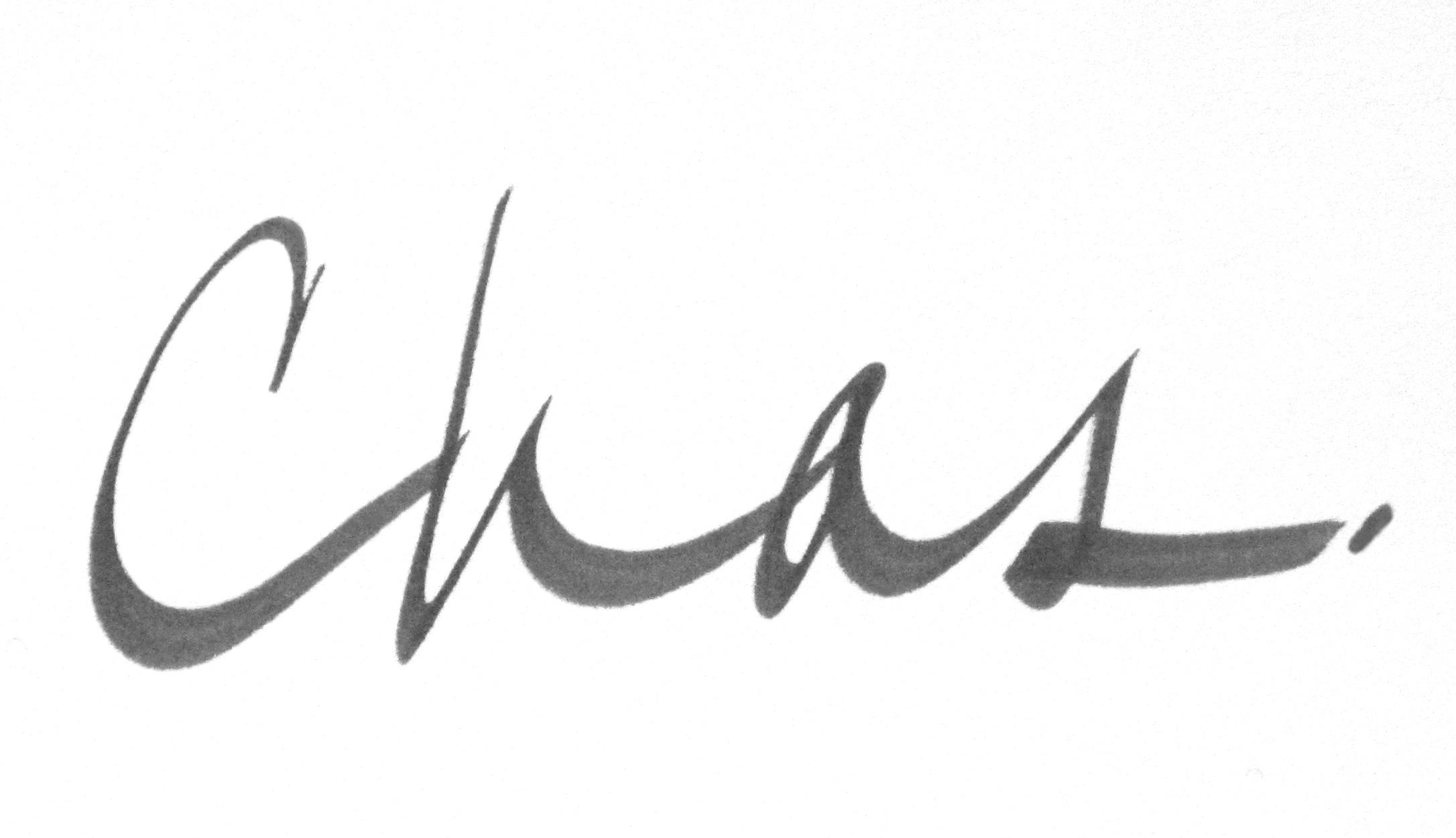 Charles Steele Signature