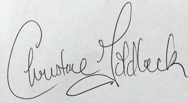 Christine Goldbeck Signature