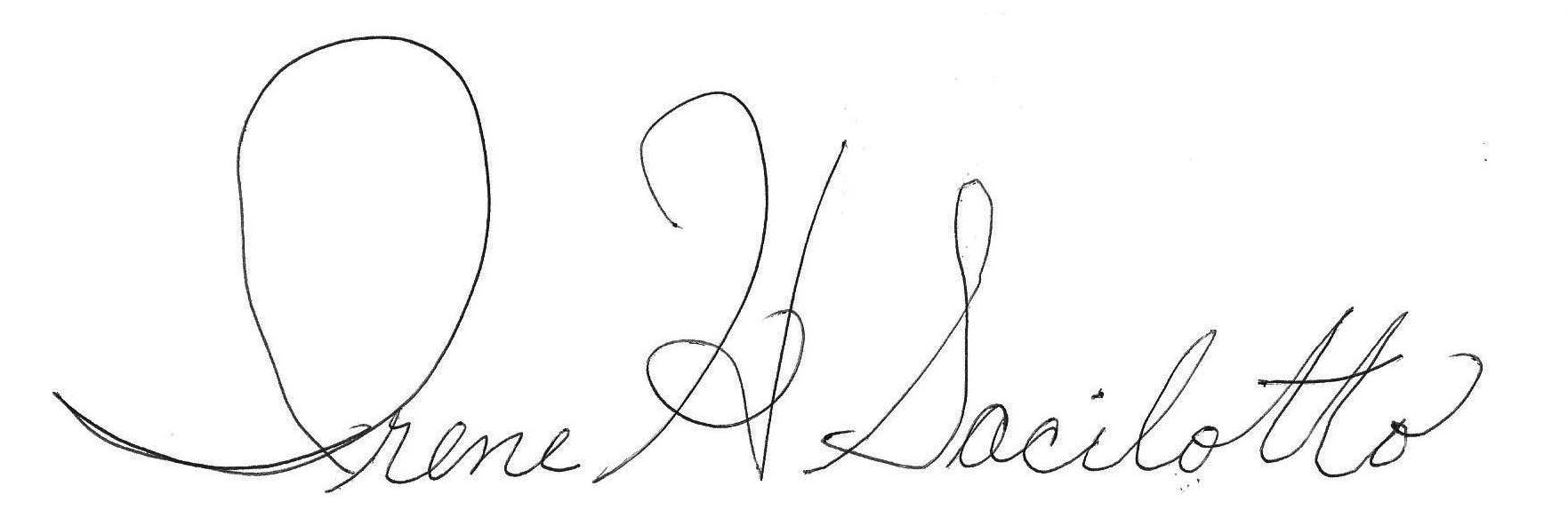 Irene Sacilotto Signature