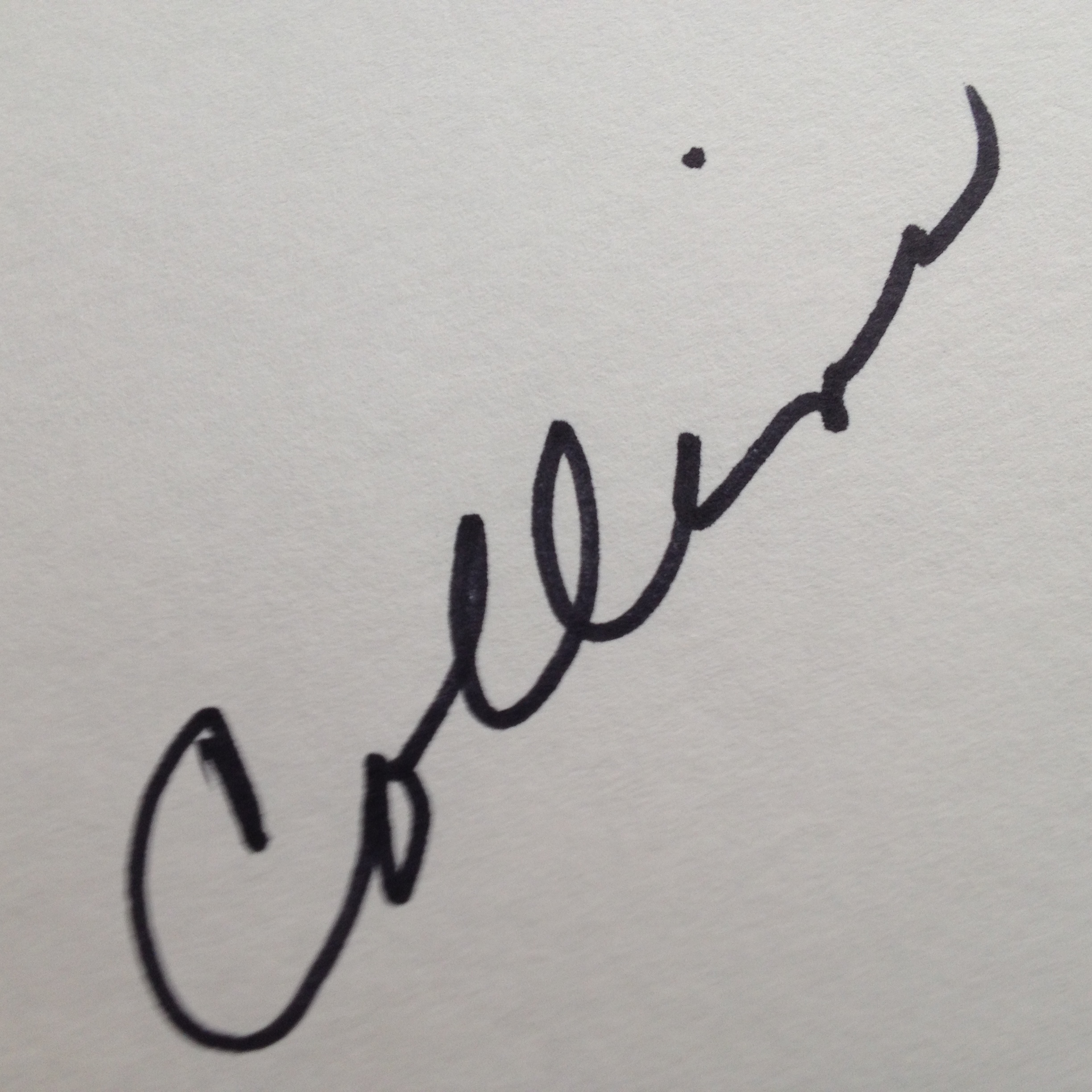 Pat lowery Collins Signature