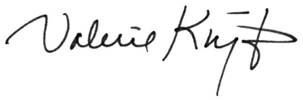 Valerie KNIGHT Signature