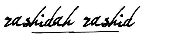 Rashidah Rashid Signature