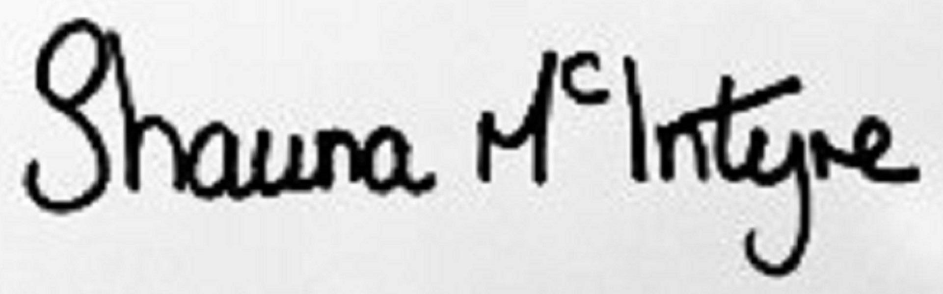 Shauna McIntyre Signature