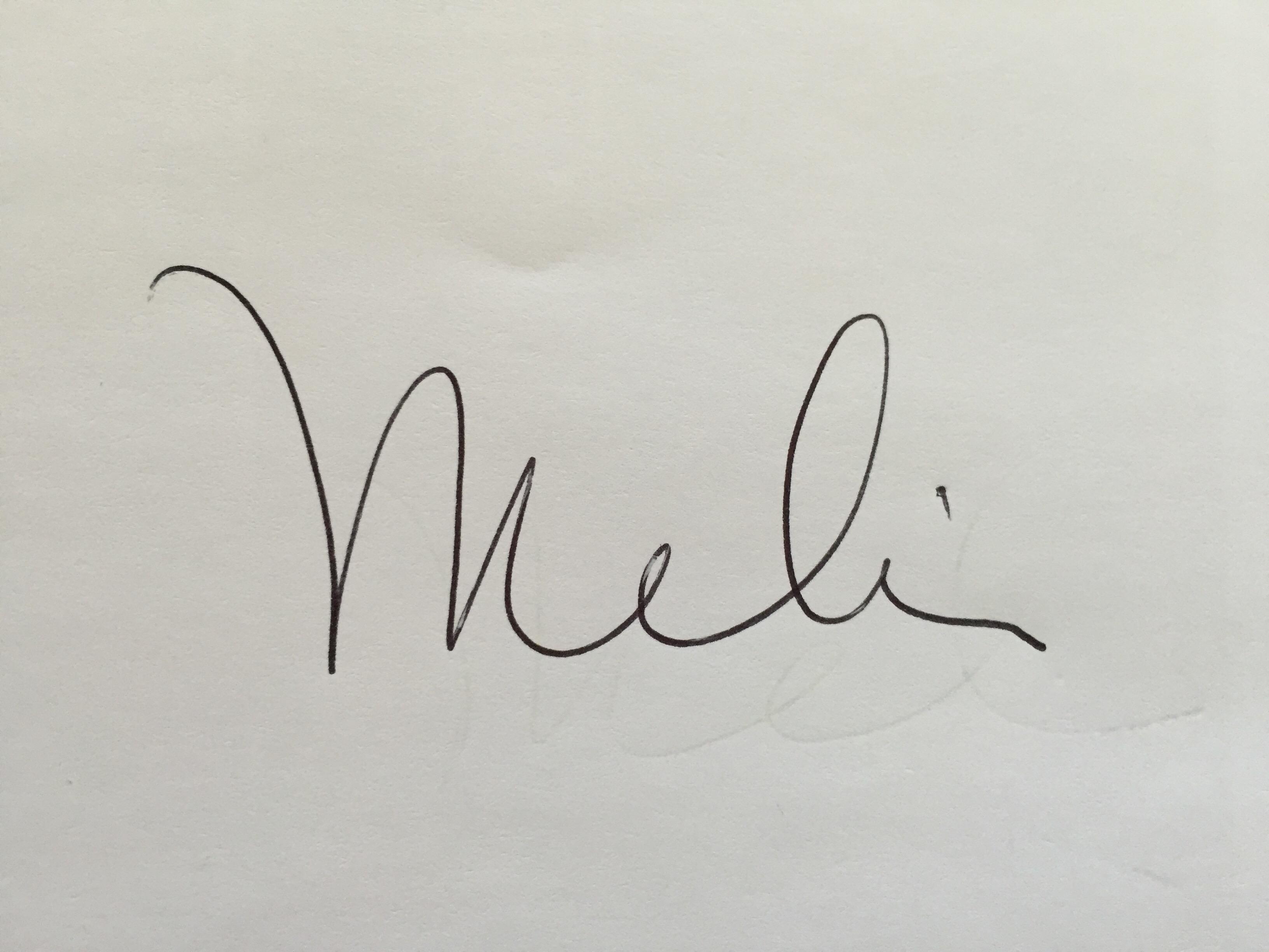 Melissa Hornung Signature