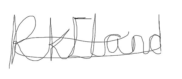 Rebecca Eland Signature