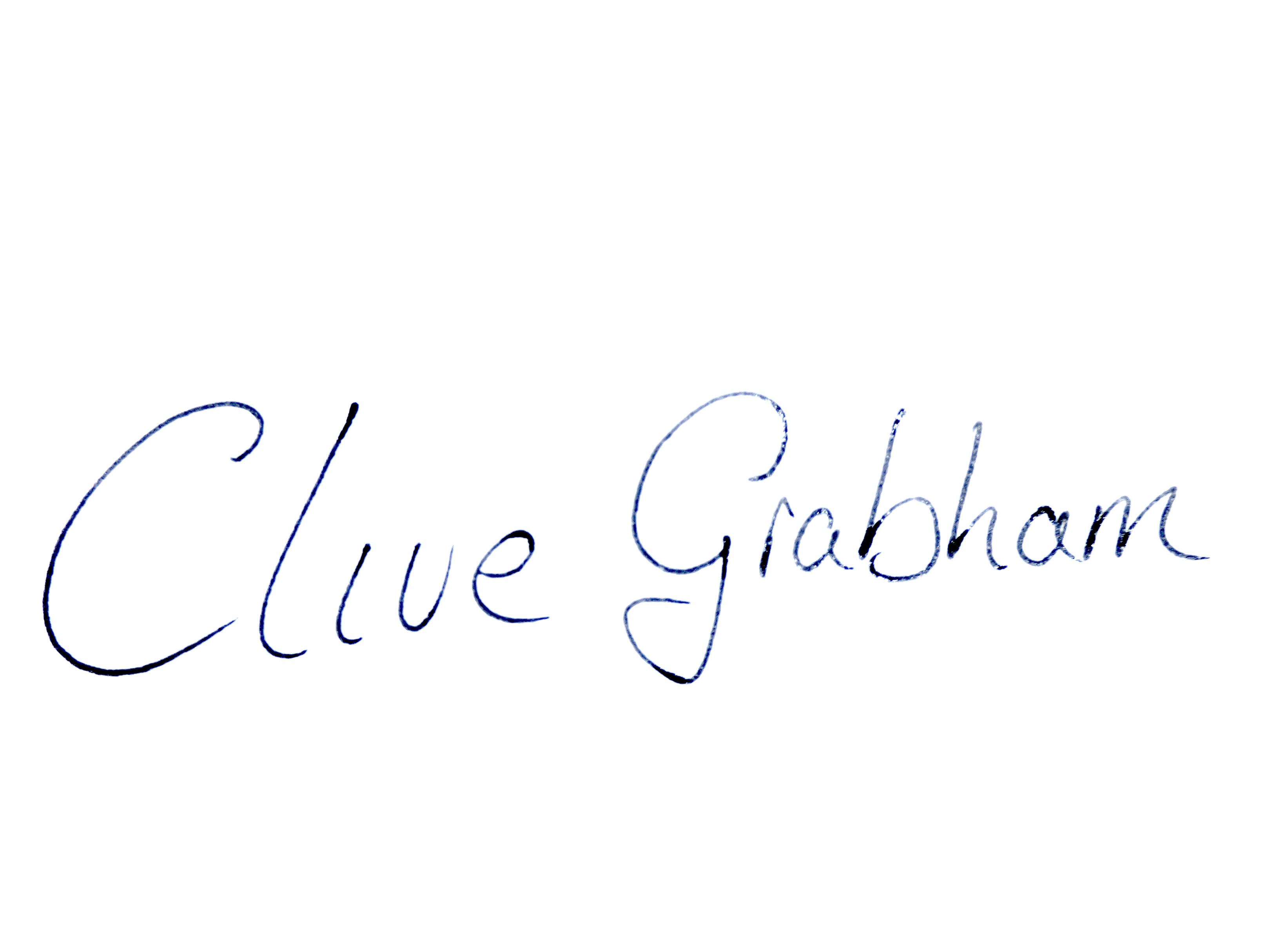 clive grabham Signature
