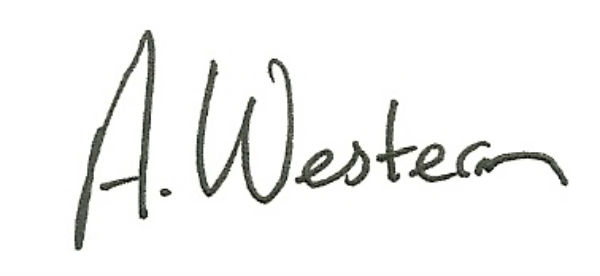 andrew western Signature
