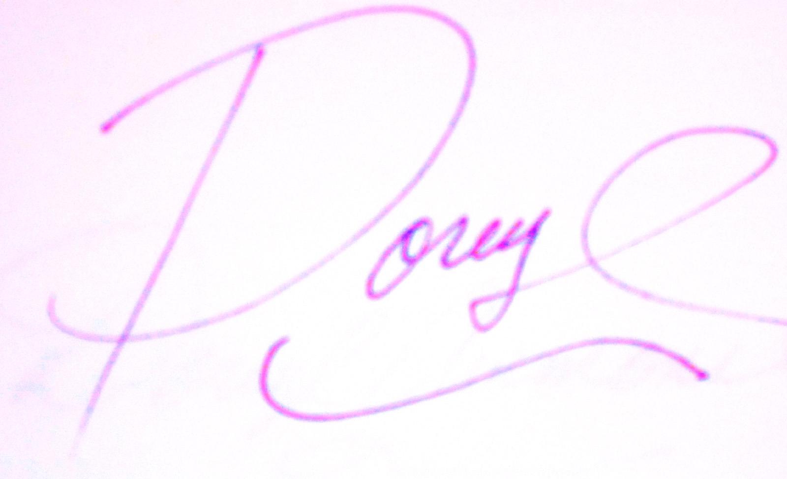 Doreyl Ammons Cain Signature