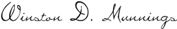 Winston Munnings Signature