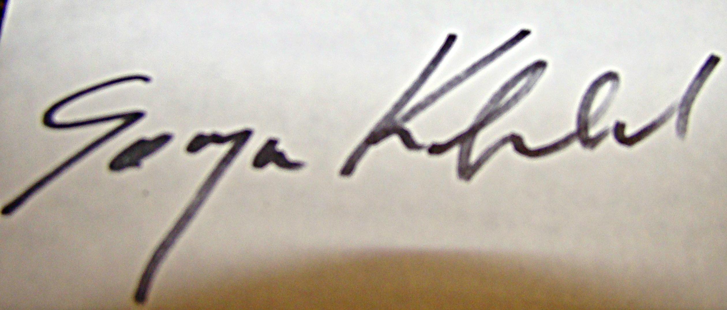 Sonja Kobrehel Signature