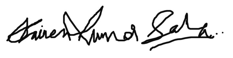 DHIR EN KUMAR SAHA Signature