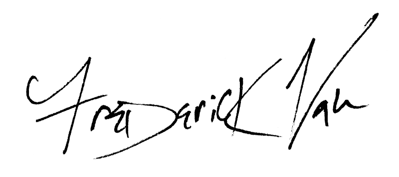 Frederick Van Johnson Signature