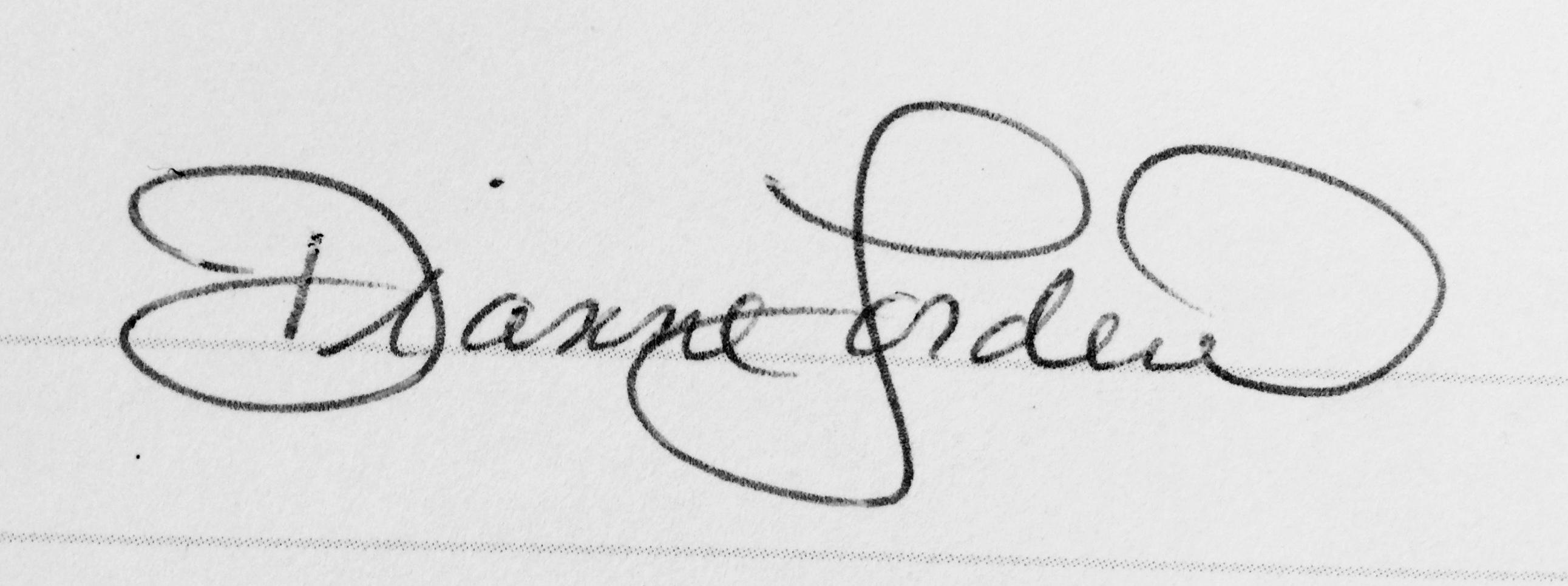 Dianne Lorden Signature