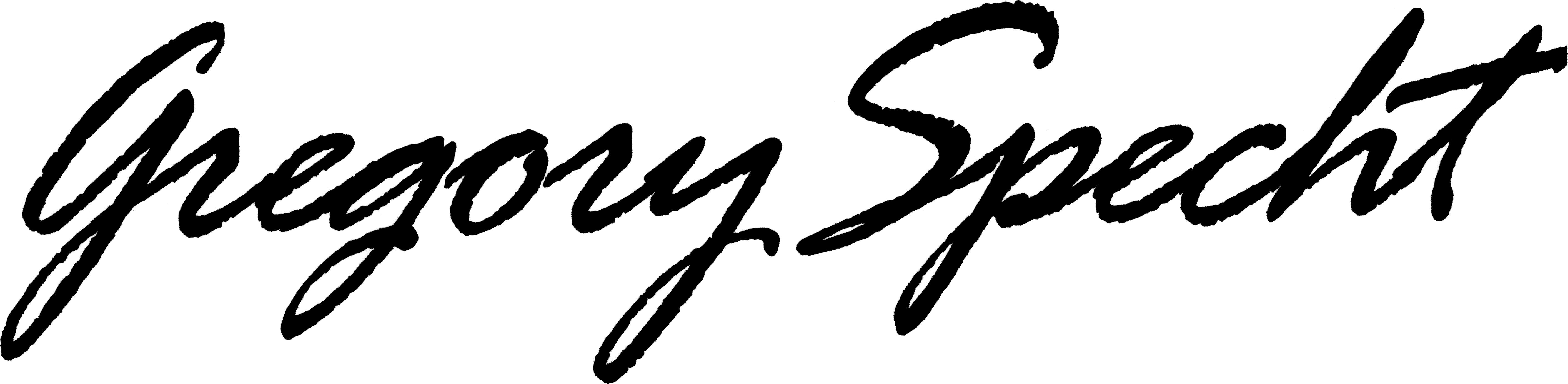 Gregory Specht Signature