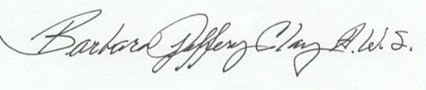 Barbara Jeffery A.W.S. Signature