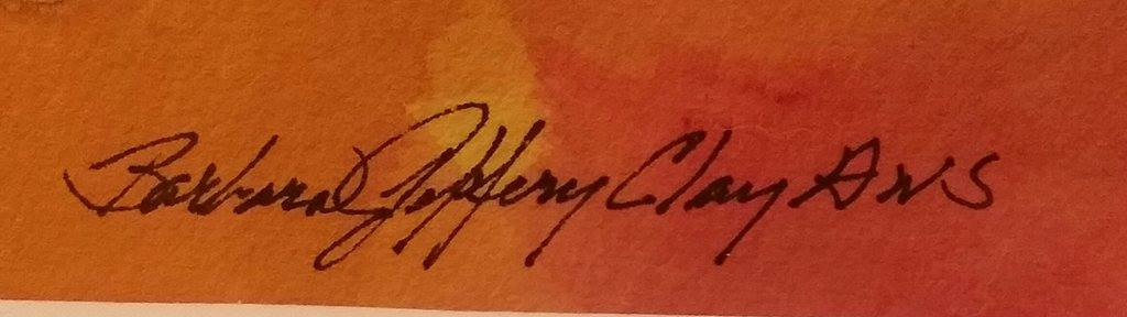 Barbara Jeffery Clay, A.W.S. Signature