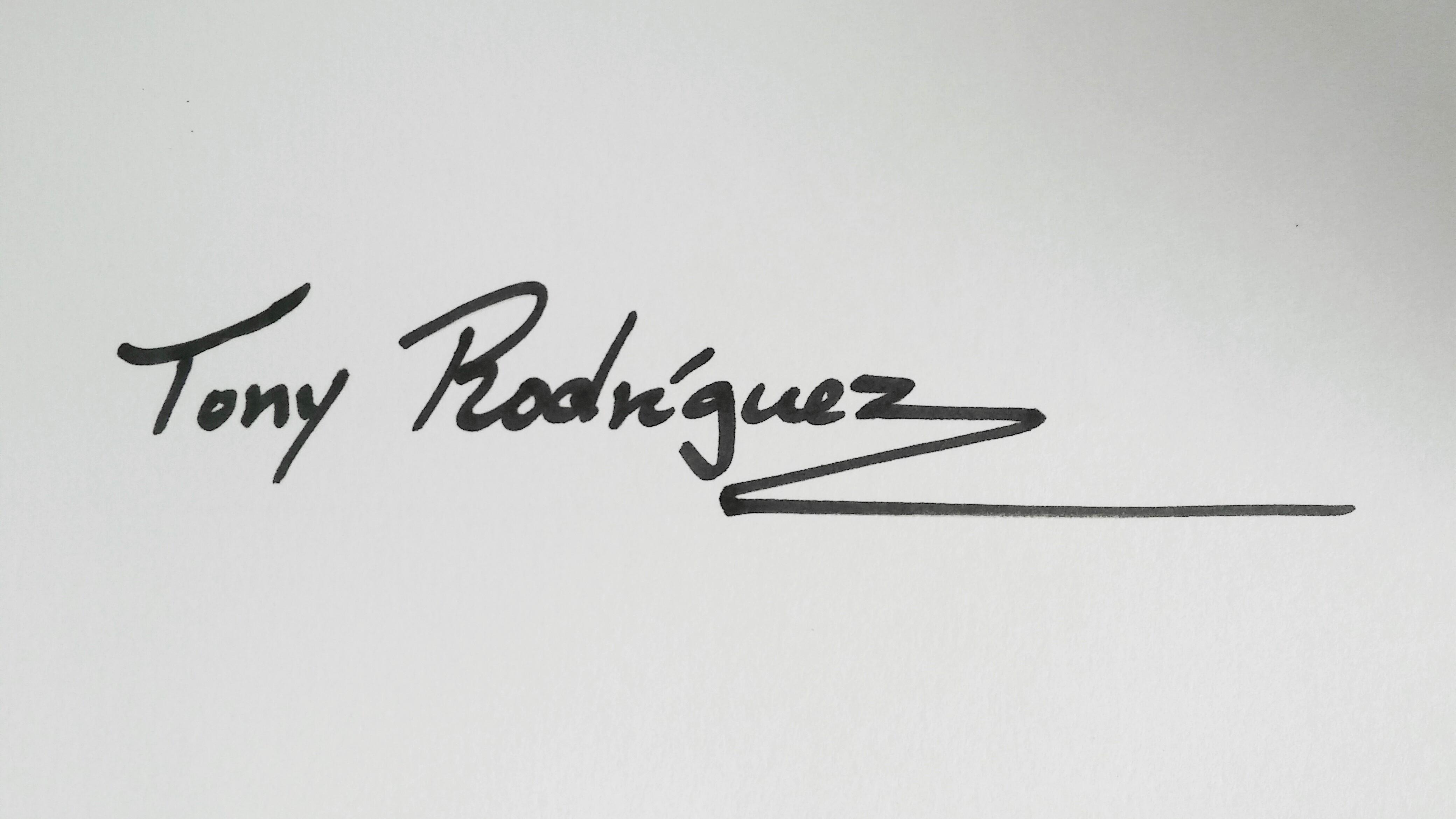 Tony Rodriguez Signature