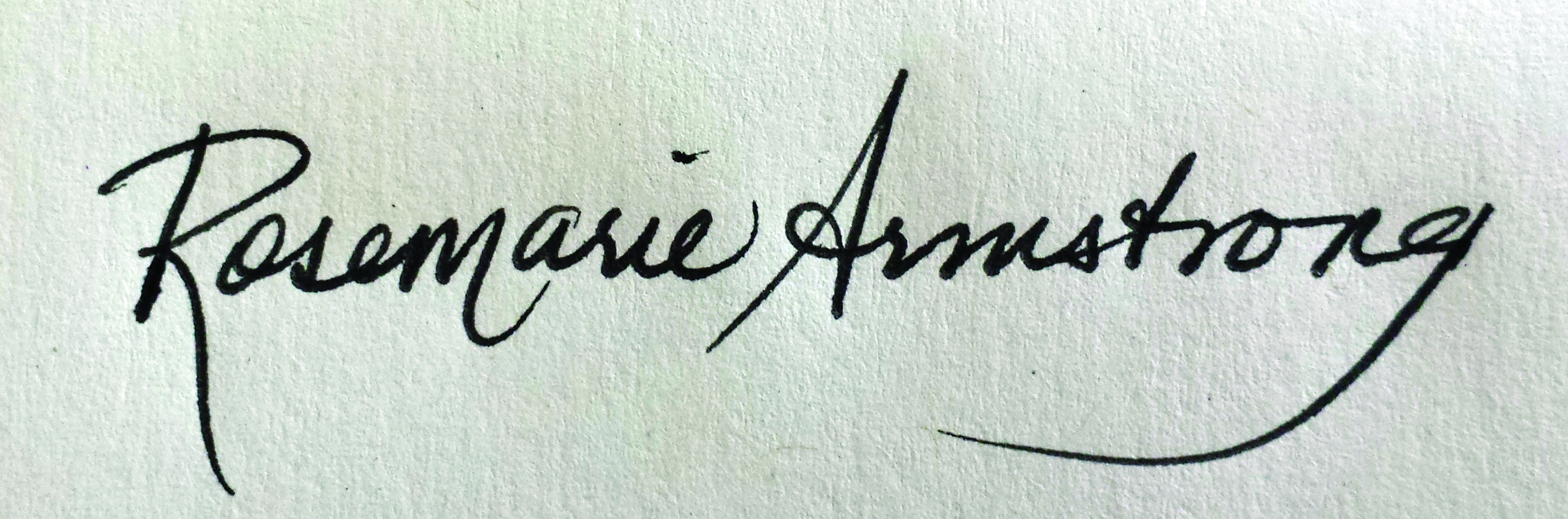 Rosemarie Armstrong Signature